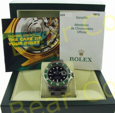 Stainless Steel Green Bezel Rolex Submariner Ref 16610V